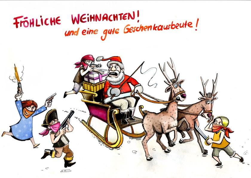 christmas card 2009 cheeky