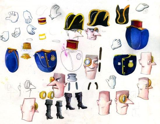 Preliminary sketches for shortfilm Captain Bligh by Derek Roczen
