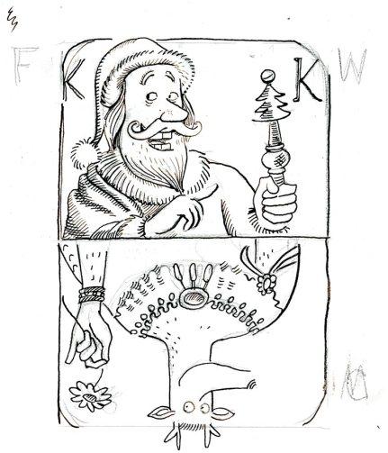 christmas card 2014 final sketch. (C) Derek Roczen