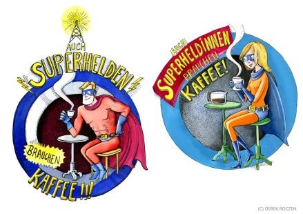 Superhelden brauchen keinen Kaffee